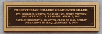Post Vietnam Military Operations Marker - Lower Plaque image. Click for full size.