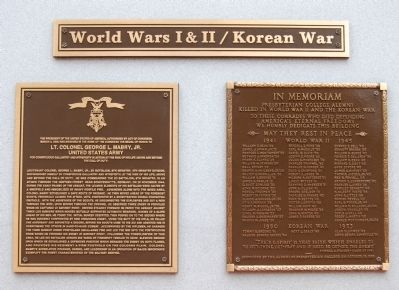 World Wars I & II / Korean War Marker image. Click for full size.