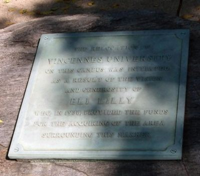 Second Plaque - - Vincennes University Marker image. Click for full size.