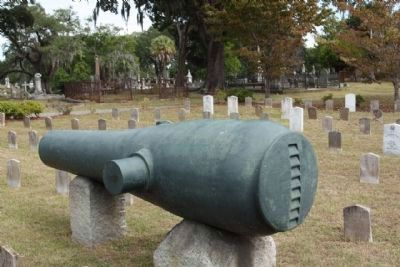 "Magnolia Cemetery ""Soldiers Ground"" cannon image. Click for full size."