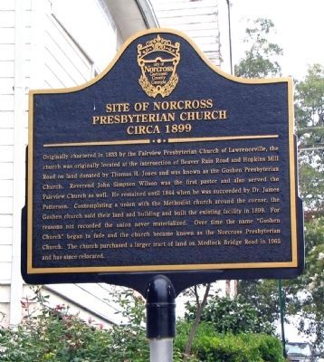Site of Norcross Presbyterian Church Circa 1899 Marker image. Click for full size.