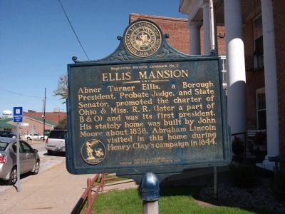 Ellis Mansion Marker image. Click for full size.