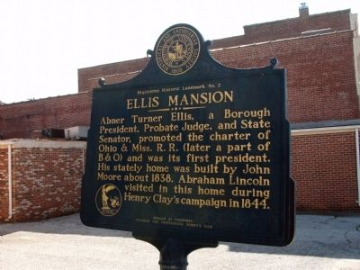 Obverse Side - - Ellis Mansion Marker image. Click for full size.
