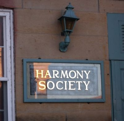 """Harmony Society"" - - Owns the Mansion and Hold Its Meetings There In. . . image. Click for full size."