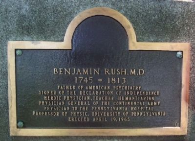 Benjamin Rush Marker image. Click for full size.