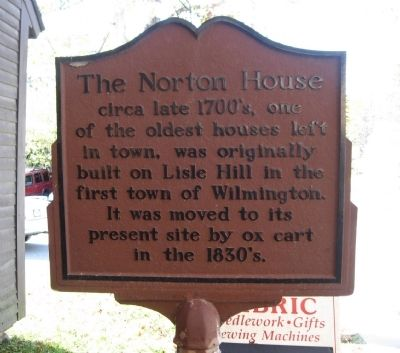 The Norton House Marker image. Click for full size.