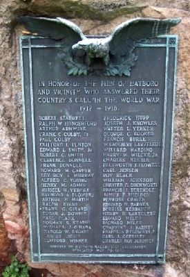 Hatboro World War I Memorial image. Click for full size.
