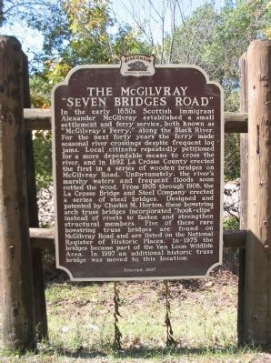 "The McGilvray ""Seven Bridges Road"" Marker image. Click for full size."