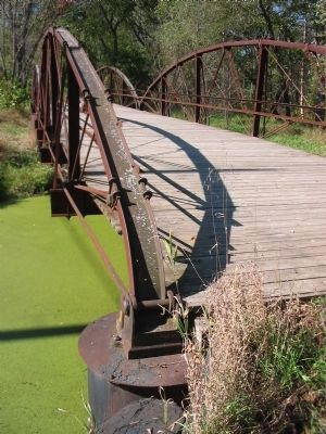 Two Span Low Steel Bowstring Arch Truss on Bridge #2 image. Click for full size.