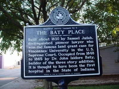 The Baty Place Marker image. Click for full size.