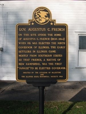 Gov. Augustus C. French Marker image. Click for full size.