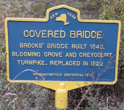 Brooks' Covered Bridge Marker image. Click for full size.
