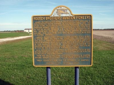 Wide View - - Rousch Brothers - - Aviation Pioneers Marker image. Click for full size.