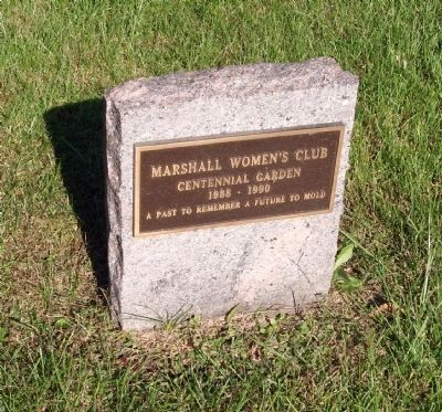 Marshall Women's Club - Centennial Garden 1988 - 1990 (Plaque) image. Click for full size.