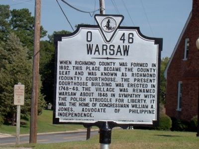 Warsaw Marker image. Click for full size.
