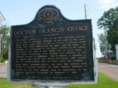 Doctor Francis' Office Marker image. Click for full size.
