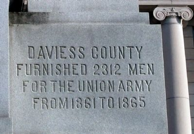 Right Front Panel - - Civil War Memorial - Daviess County Indiana Marker image. Click for full size.