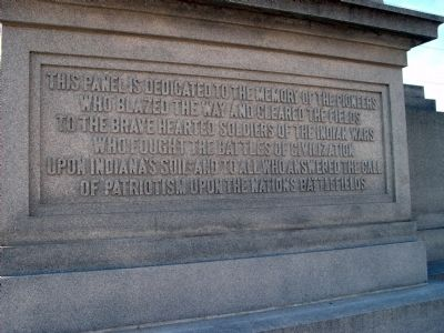 Obverse Center Panel - - Civil War Memorial - Daviess County Indiana Marker image. Click for full size.
