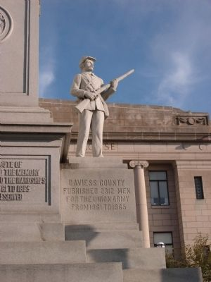 Wide View Right Statue - - Civil War Memorial image. Click for full size.