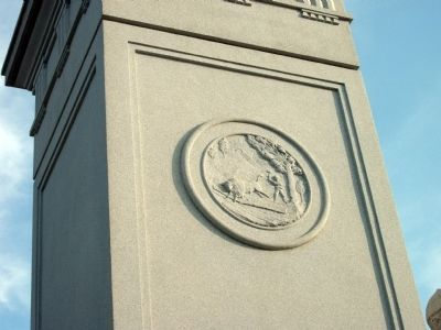"""Great Seal"" of Indiana - - Civil War Memorial image. Click for full size."