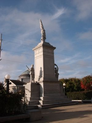 North East Corner - - Civil War Memorial image. Click for full size.