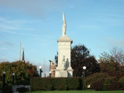 Long View - East Side - - Civil War Memorial image. Click for full size.