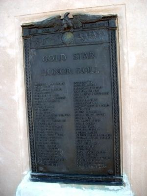Gold Star - - Honor Roll Marker image. Click for full size.