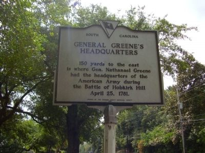General Greene's Headquarters Marker image. Click for full size.