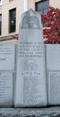 Center Panel - - Pike County War Memorial Marker image. Click for full size.