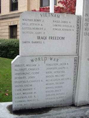 Left Panel - - Pike County War Memorial Marker image. Click for full size.