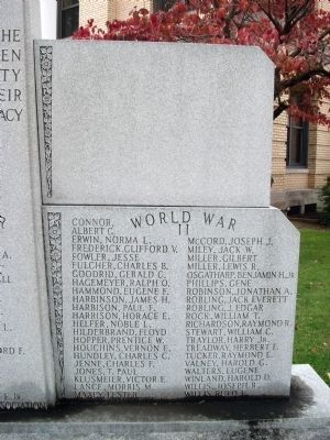 Right Panel - - Pike County War Memorial Marker image. Click for full size.