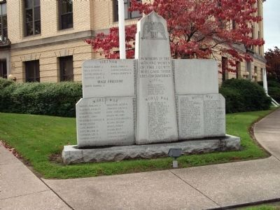 Full View - - Pike County War Memorial Marker image. Click for full size.
