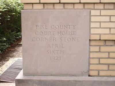 1921 Courthouse Corner Stone - Pike County image. Click for full size.