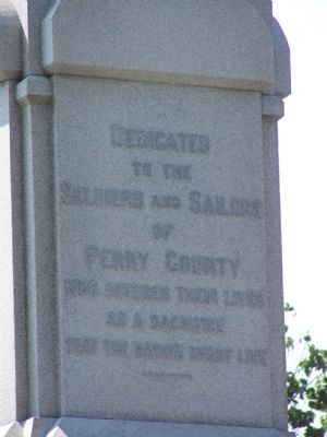 Perry County Civil War Memorial Marker image. Click for full size.