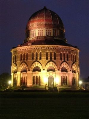 Nott Memorial at Night image. Click for full size.