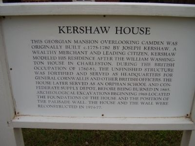 Kershaw House Marker image. Click for full size.