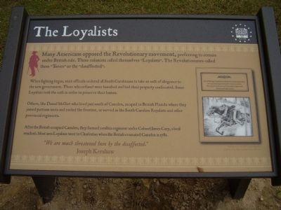 The Loyalists Marker image. Click for full size.
