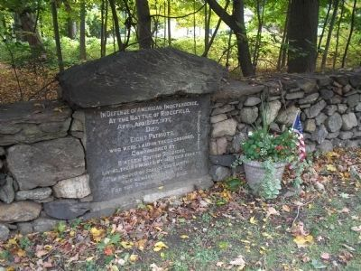 Battle of Ridgefield Dead Marker image. Click for full size.