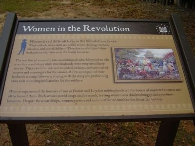 Women in the Revolution Marker image. Click for full size.