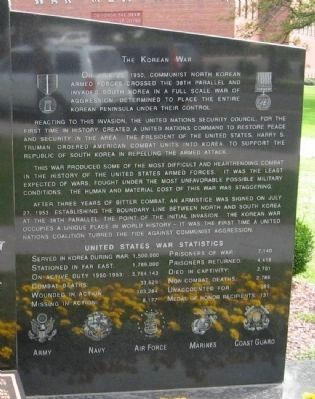 Danbury Area Korean War Memorial image. Click for full size.