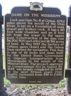 Dams on the Mississippi Marker image. Click for full size.