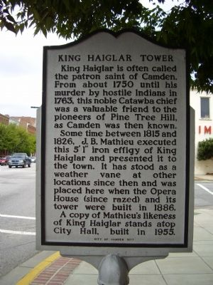 King Haiglar Tower Marker image. Click for full size.