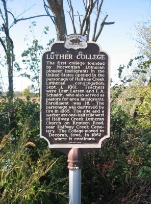 Luther College Marker image. Click for full size.