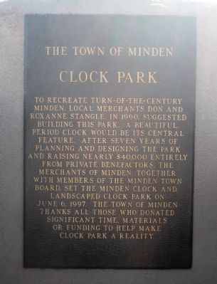 Clock Park Marker image. Click for full size.