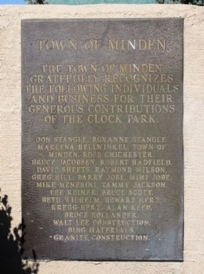 Clock Park - Plaque of Gratitude image. Click for full size.