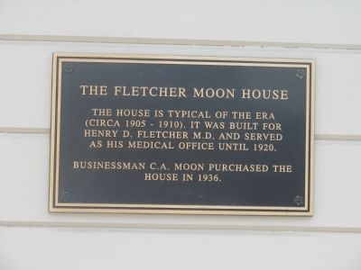 The Fletcher Moon House Marker image. Click for full size.