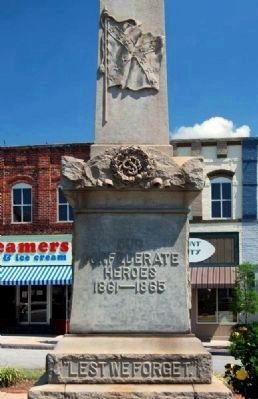 Clinton Confederate Monument -<br>West Inscription image. Click for full size.