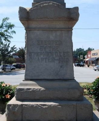 Clinton Confederate Monument -<br>East Inscription image. Click for full size.