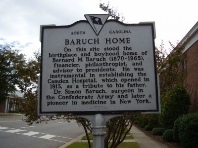 Baruch Home Marker image. Click for full size.