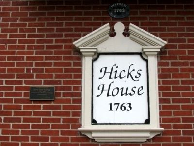 The Birthplace of Edward Hicks House and Marker image. Click for full size.